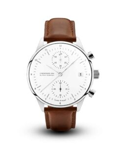 About Vintage 1844 Chronograph Steel - White - Brown TIMESTUFF